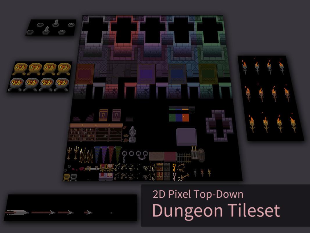 2D Pixel Top-Down Dungeon Tileset - Asset Store