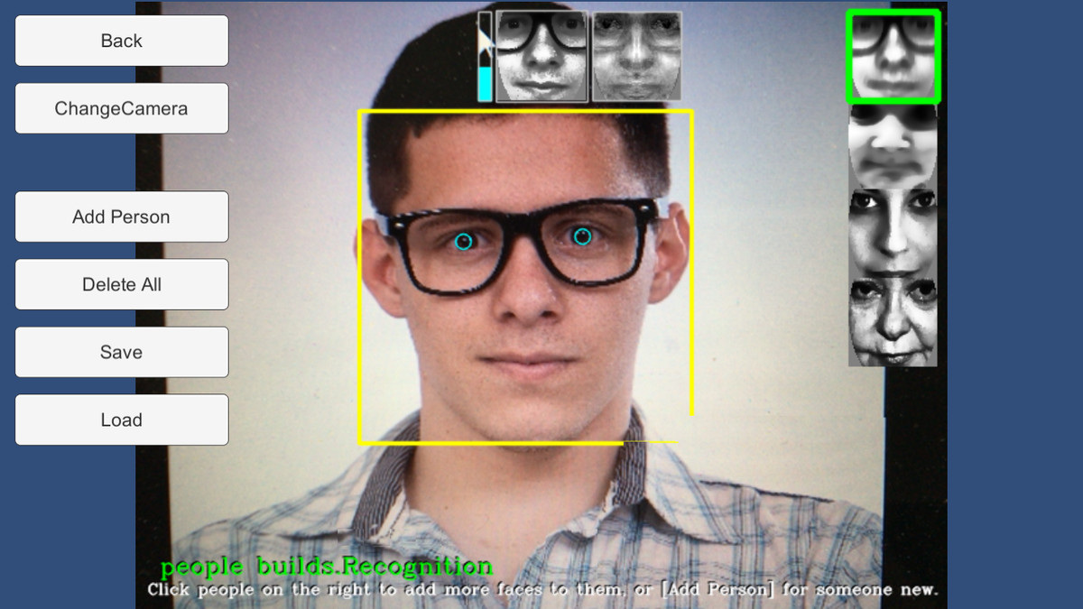 RealTime FaceRecognition Example - Asset Store