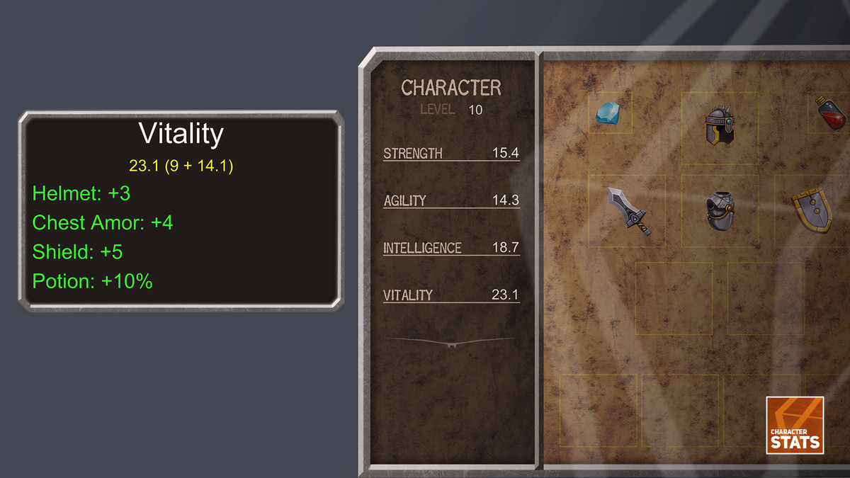 Character Stats - Asset Store