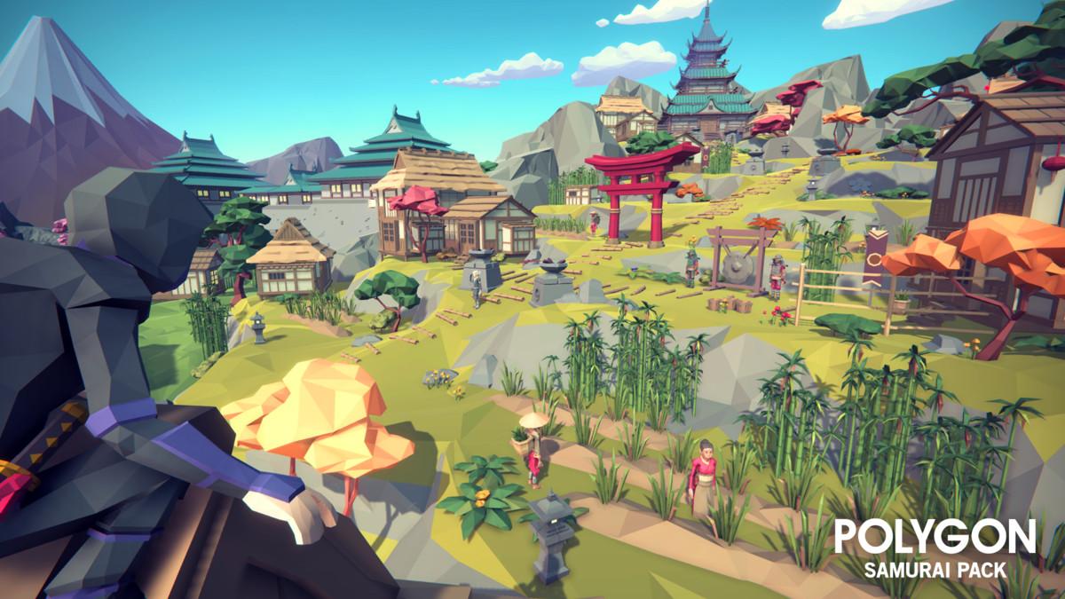 Samurai Low Poly sponsored3D SamuraiPolyCharacters