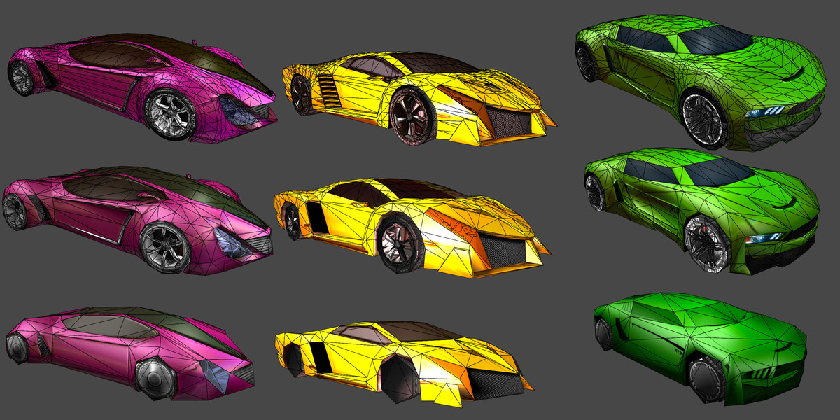 Five Race Cars Models Pack - Asset Store