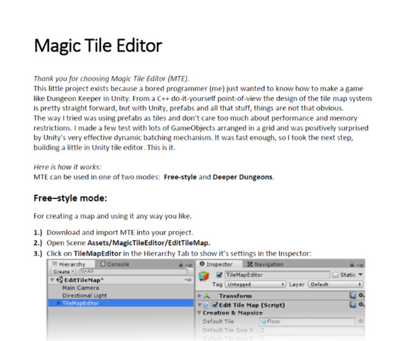 Magic Tile Editor (Free) - Asset Store
