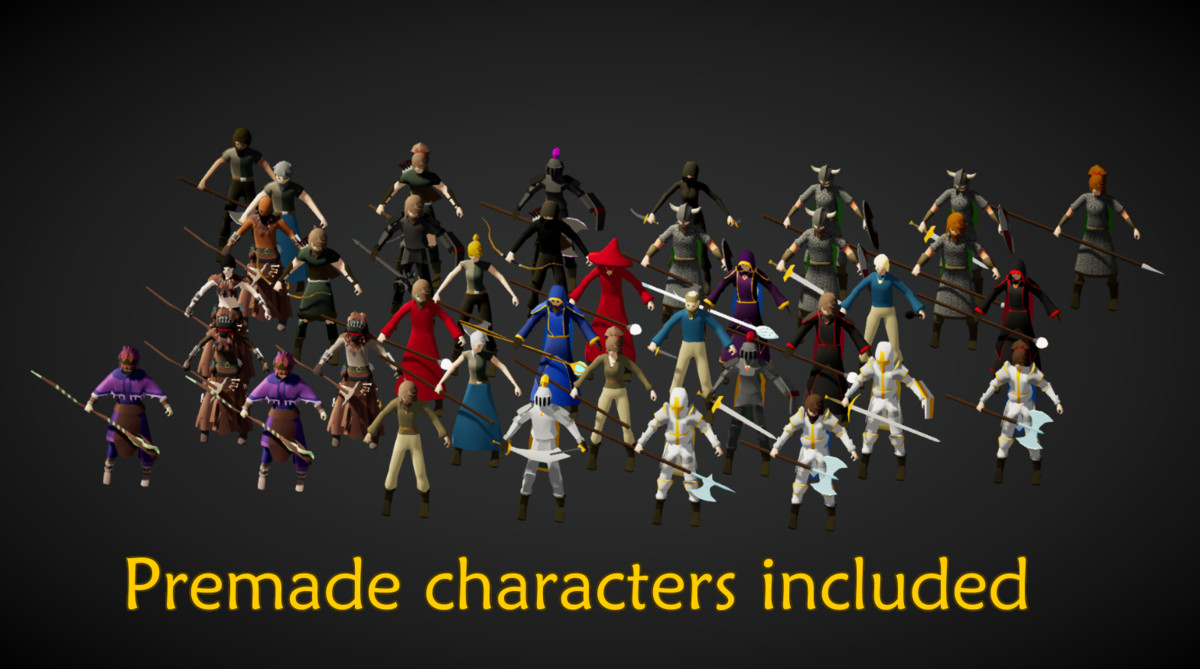 Medieval Fantasy - Customizable Characters