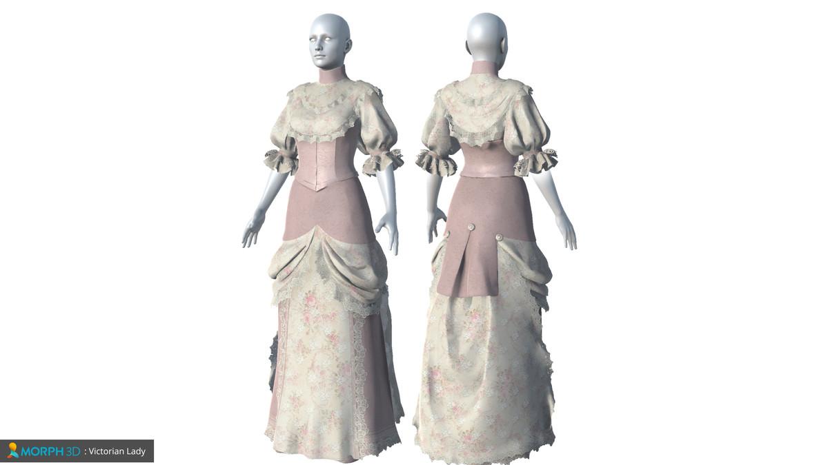 MCS Female: Victorian Lady - Asset Store