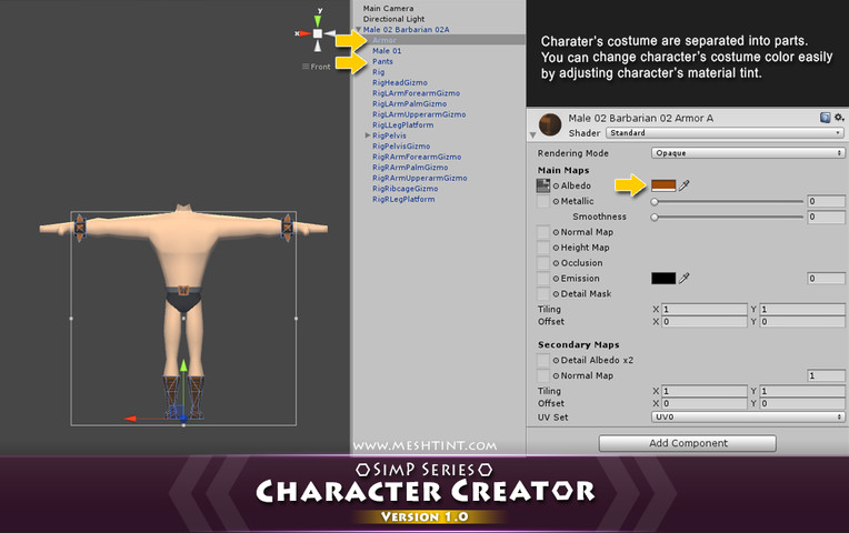 Detailed character creator
