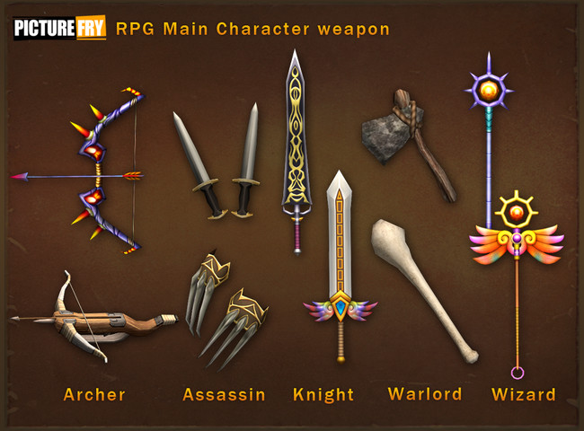 RPG Five Main Characters - Asset Store