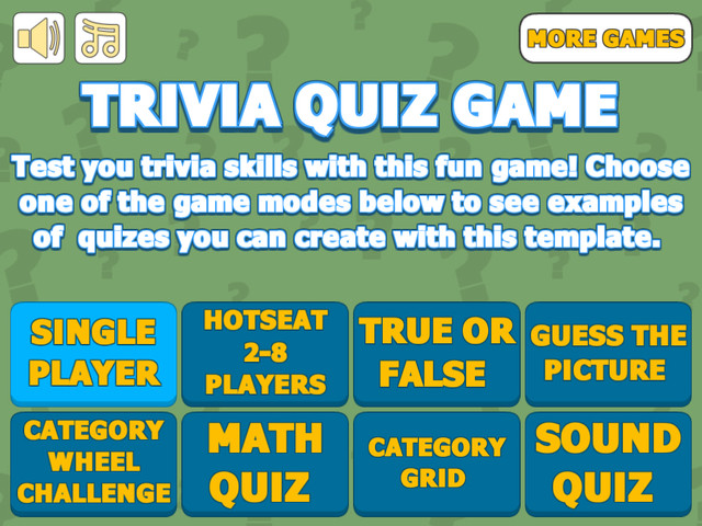 Trivia Quiz Is A Full Unity Template That Gives You Quick And Easy Way To Create Along With Timer Lives Varying Bonuses