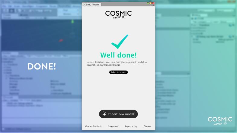 Cosmic Import 3D - Asset Store