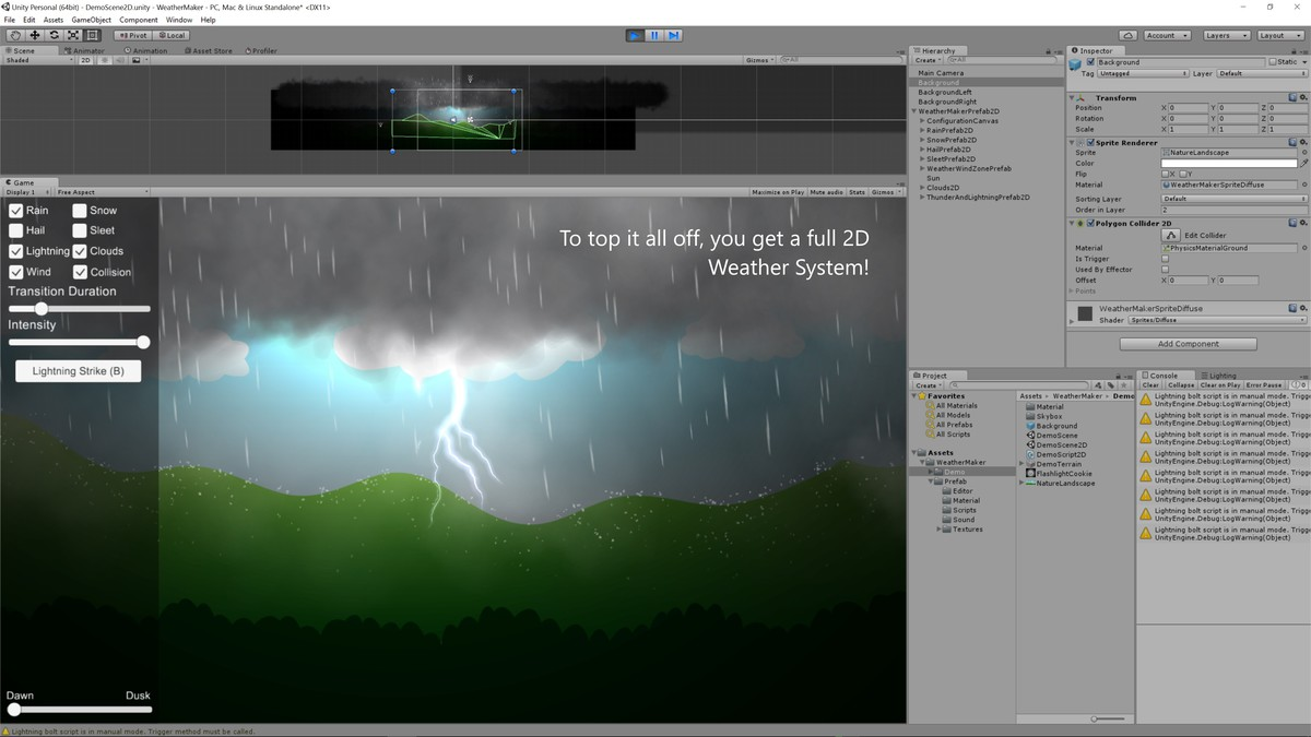 Weather Maker - Unity Weather System, Sky, Water, Volumetric Clouds