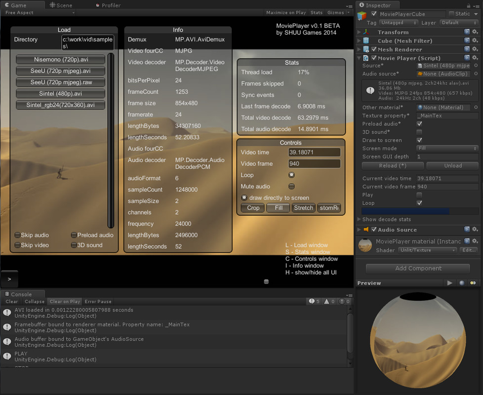 AVI Player with Playmaker actions - Asset Store